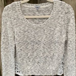 Charlotte Russe/ Soft Tweed cropped sweater